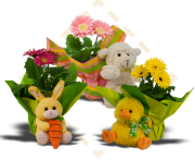 Gerbera Easter Plush